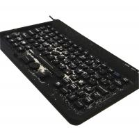 Buy cheap Military use black silicone customs keyboard with integrated 3 mouse buttons without gap product