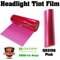 Buy cheap Car Headlight Tint Film 3 layers 0.3*10m/roll - Pink product