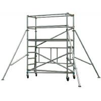 Buy cheap Lightweight Ladder Multi Purpose Aluminium Mobile Scaffold / Mobile Scaffold With Wheels product