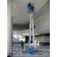 Quality 14 m Working Height Compact Double Mast Aluminum mobile aerial work platform for sale