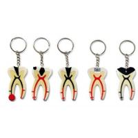 Buy cheap Dental Keychain For Dentist Team Gift Molar Tooth Rubber Key Chain product