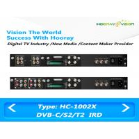 Buy cheap Free To Air Satellite Receiver Dual -Tuner Two CAMs SD IRD Input RF ASI  IP Output product