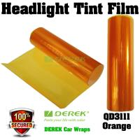 Buy cheap Car Headlight Tint Film 3 layers 0.3*10m/roll - Orange product