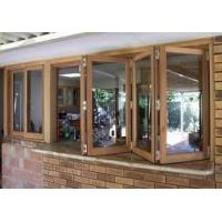 Buy cheap French Folding Glass Casement Windows Horizontal With Mosquito Screen Door product