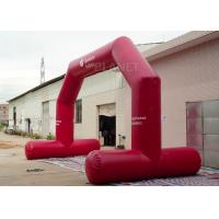 Buy cheap High Strength Red Custom Inflatable Arch CE / UL Air Blower Easy Operation product