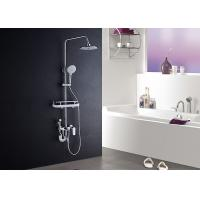 Buy cheap ROVATE Single Handle Bathroom Shower Set High Strength With Shampoo Shelf product