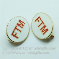 Buy cheap Cloisonne Emblem Lapel Pins, soft enamel monogram letter badge pins with safety pin product