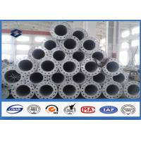 Buy 10M Galvanized tubular steel pole 110kv Voltage Painting Surface Coating at wholesale prices