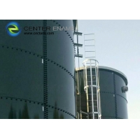 Buy cheap Glass Lined Steel Industrial Liquid Storage Tanks With Aluminum Alloy Trough Deck Roof product