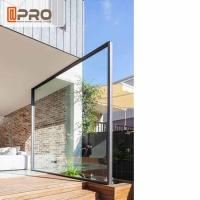 Buy cheap Transparent Glass Aluminum Pivot Doors For Residential Air Tightness product