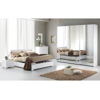 Buy cheap Contemporary White High Gloss Bedroom Furniture Sets 3 Door Sliding Wardrobe  product