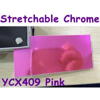Buy cheap Stretchable Chrome Mirror Car Wrapping Vinyl Film - Chrome Rose Red product
