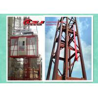 Quality 34m speed twin cage 2000kg capacity construction site lift for sale