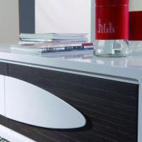 Buy cheap Coffee Table with MDF and white High Glossy Painting and Walnut from wholesalers