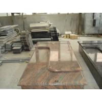 Buy cheap Multicolor Red Granite Stone Tombstones For Graves French Style Acid Resistant product