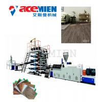 Buy cheap High Output Plastic Floor Tile Machine , Floor Tiles Making Machine Click Vinyl product