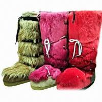 Buy cheap 2013 Fashion Women's Snow Boot with Rich Rabbit Fur, Customized Colors are Accepted product