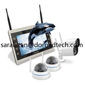 1080P High Definition 4CH Home Surveillance WIFI Wireless IP Video Cameras NVR System