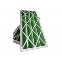 Buy cheap Rigid Pleated Panel Air Filters , Clean Room Pre Filter G1 - G4 With Cardboard Frame product