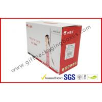 China Foldable 350g C1S corrugated cardboard boxes 3 Layers Flat Cartons on sale