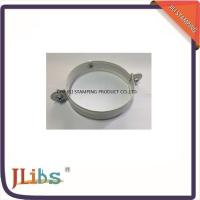 Buy cheap White Painting Down Pipe Clamps Galvanised Tube Clamps With Riveted Fixed Nut M8 product