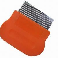 Buy cheap Lice comb, handle made of plastic, stainless steel pins easily reach scalp product