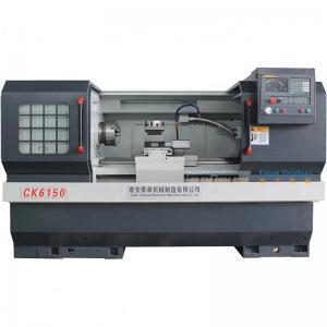 China CK6150 Metal Lathe Machine High Accuracy Toolroom Metal Cutting  Guideway on sale
