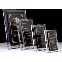 Buy cheap Durable Crystal Glass Golf Trophies Cup Black Color Matching CE CCC Certificated product