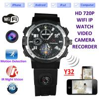 Buy cheap Y32 32GB 720P WIFI IP Spy Watch Camera Wireless Remote CCTV Video Monitor IR Night Vision Home Security Nanny Camera product