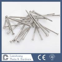 China Custom Flat head stainless steel ring shank siding nails for wood on sale