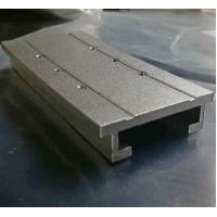 Buy cheap Sandblasted Aluminium Extrusion Profiles Extruded Aluminum Parts With Machining Holes product