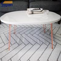 Buy cheap Marble Color PVC Film Pressed Adjustable Wood Table Top MDF Panel product