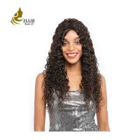 Buy cheap Unprocessed human hair extension cheap 10a Brazilian deep wave curly virgin hair 3 bundle closed from wholesalers
