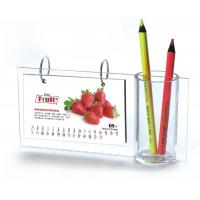 Buy cheap Desktop A5 Acrylic Calendar Pen Holder Frames L Type For Home product