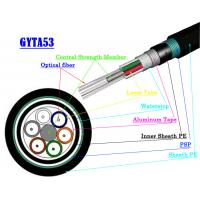 China Multimode Fiber Optic Armoured Cable GYTA53 GYTS53 Direct Buried Fiber Optic Cable on sale