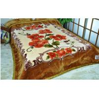 Buy cheap King Size ISO 2 Ply Mink Blanket Flower Pattern , 100% Polyester Blanket product