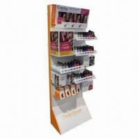 Buy cheap Advertising Cosmetic Showcases for Colorful Printing with Display Stands in Stores and Supermarkets product