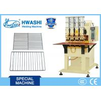 Buy cheap Four Head Manual Grill Shelf Wire Welding Machine with Two Phase AC Power Source from wholesalers