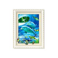Quality Customized Size Turtles And Dolphins 5D Photography For Home Decoration for sale