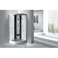 Quality Matt Silver Profiles Curved Glass Shower Enclosures , Enclosed Shower Cubicles for sale