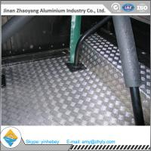 Buy cheap 2.5mm Aluminium Alloy Sheet Aluminum Stair Checker Plate 5 Bars 3003 H14 / H24 product