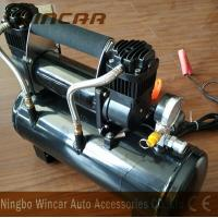 Quality Double 30mm Cyclinder 12V Portable Air Compressor 8 Bar Max Pressure for sale