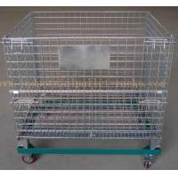 """Quality 5"""" Casters Removable Wire Mesh Container Storage Cages With Trolley Cars for sale"""