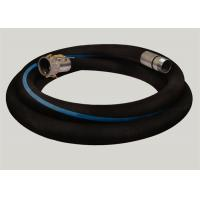 Buy cheap Flange Joint Wire Reinforced Rubber Hose / Corrugated Suction Hose ISO 9001 Approved product