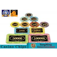 Buy cheap Personalized High Transmittance Crystal Casino Poker Chips Round Shape For Gambling Club product