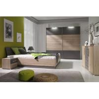 Buy cheap Mirrored Bedroom Furniture With Side Table , Mordern Bedroom Storage Furniture Sets product