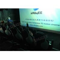 Buy cheap Ergonomic 5D Theater System Motion Durable Seats In Commercial Center product