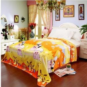 Buy cheap Yellow Polyester Antistatic Micro Fiber Blanket Adult , Custom Cartoon Blanket product