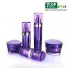 Buy cheap UV Coated Acrylic Lotion Dispenser Bottles Prism Shape Customized Logo Printing product