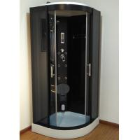 Quality 900mm Sector Sliding Glass Shower Cabin With Black Frame / Computer Control for sale